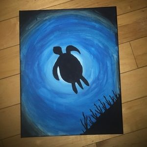 Sea Turtle Ocean Painting